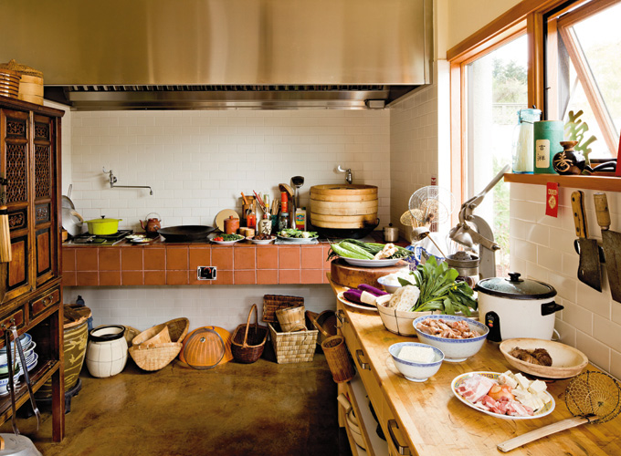 The second kitchen is used to cook Chinese food.