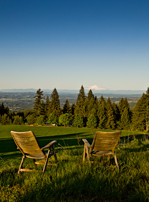 The perfect place to relax and enjoy a view of Mount Hood.