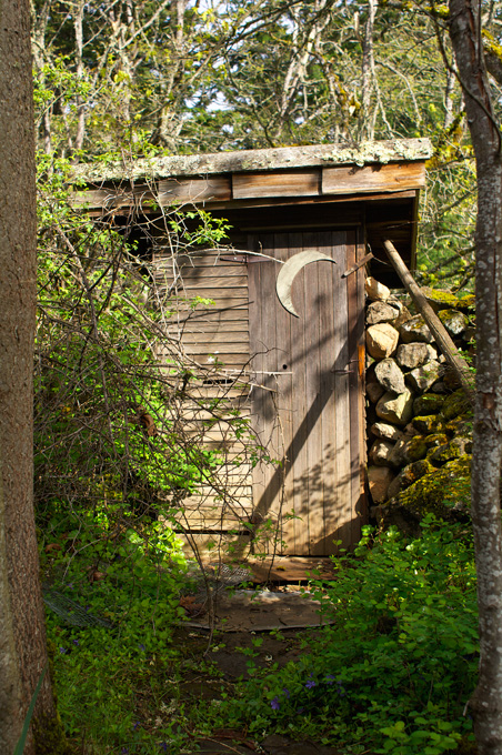 One of the old structures on the property.