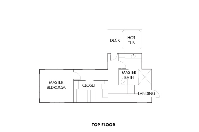 Floorplan for top floor.