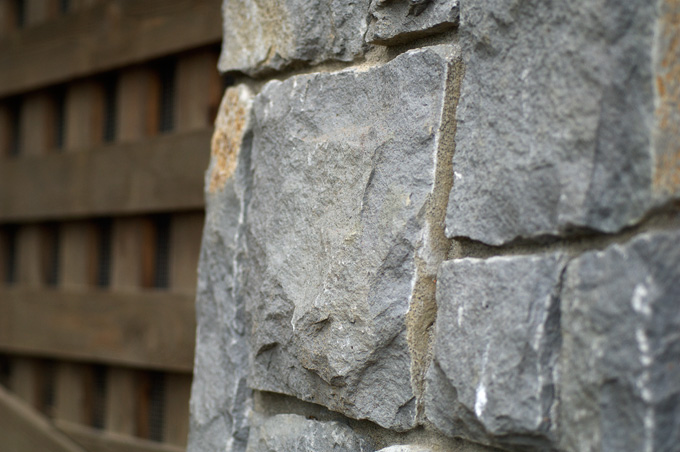 Natural stone on the exterior.
