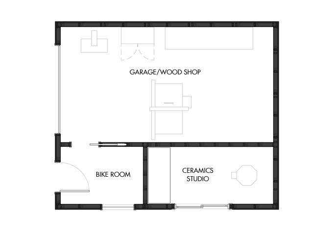 Floorplans for the new garage.