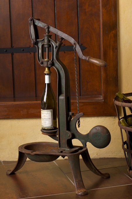 Domaine Margelle wine and antique wine opener.