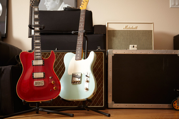 Guitars, equipment and a picture of John F. Kennedy fill the condo Eddie Martinez uses as a home office for writing and playing music.The Portland-based guitarist has played with and/or recorded with some of the most familiar names in rock and jazz.
