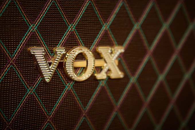 The Vox pattern is as recognizable to musicians as the Burberry plaid throw is to home design fans.
