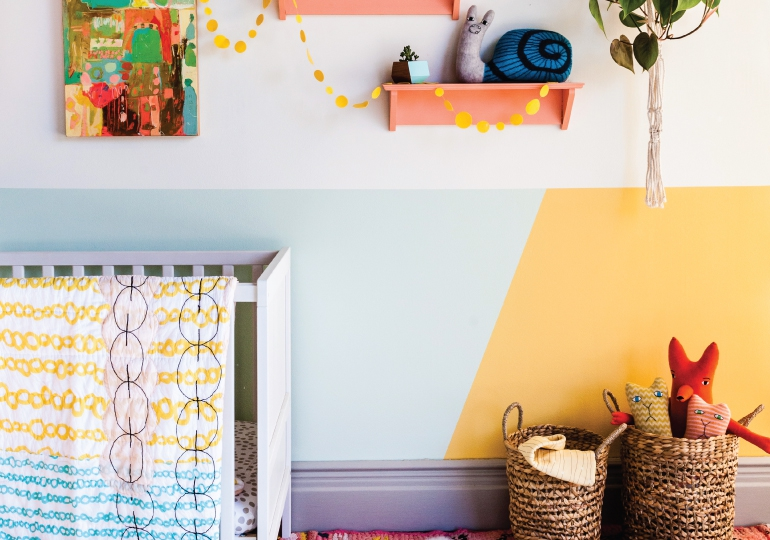Geometric Wall DIY