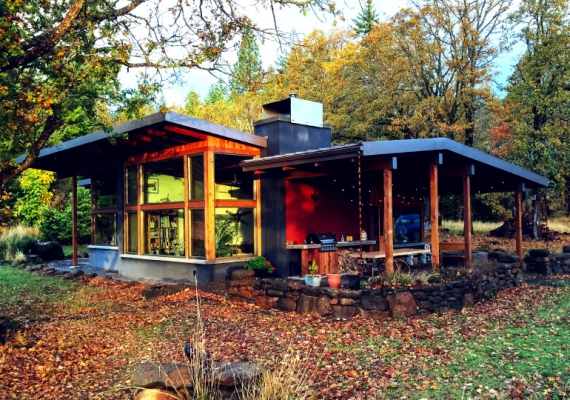 Country Cabin, Modern Design