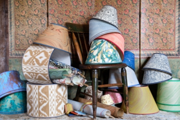 Shandell's Upcycles Vintage Goods into Lampshades