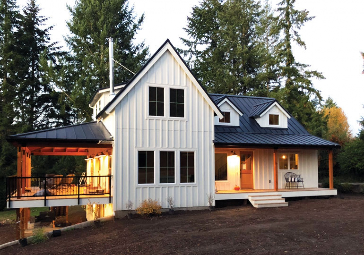 Spanning Eras in a Rustic Yet Modern West Linn Farmhouse